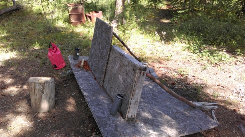 a Yukon bench