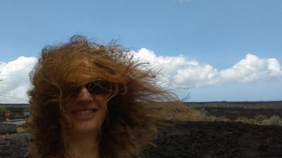 it was a bit windy