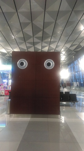 I felt watched a bit by those air con units at the Jakarta airport