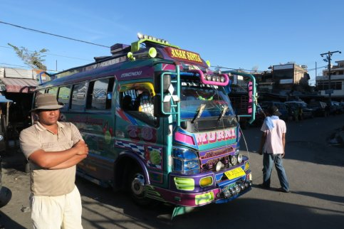 a busdriver with his bus