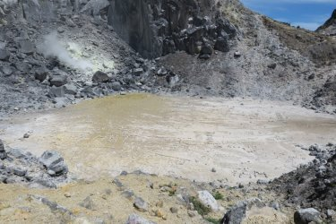 the crater of Mt Sibayak