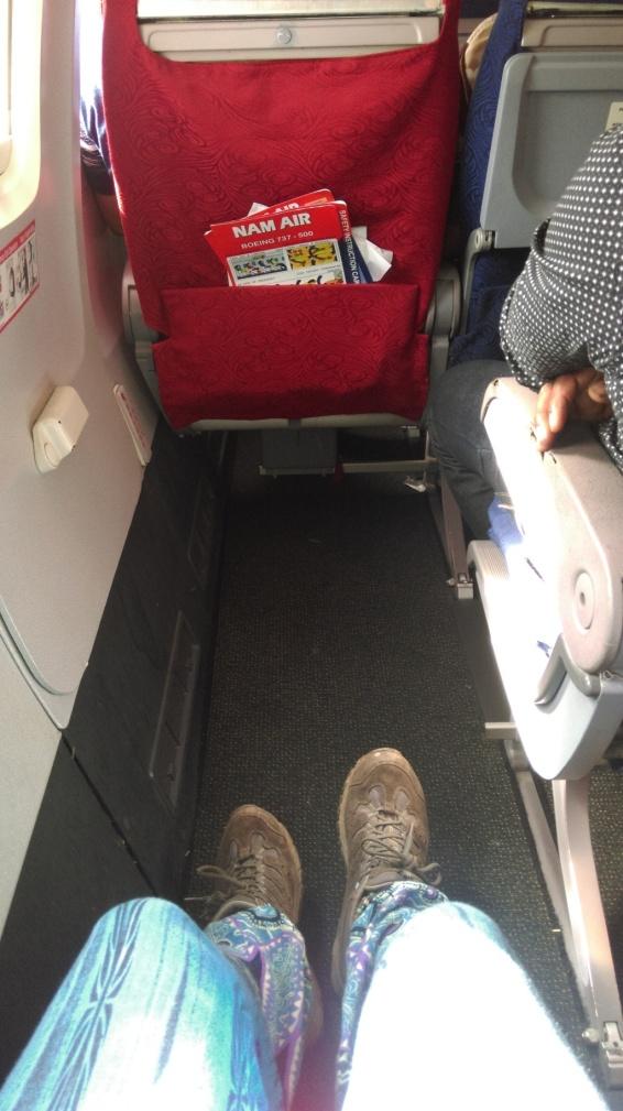 I had a lot of leg room on that flight