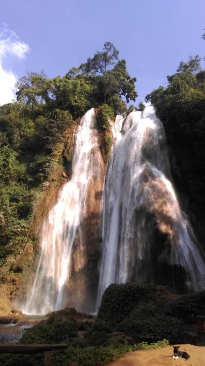 Anikasan waterfalls in Pyinoolwin, Myanmar