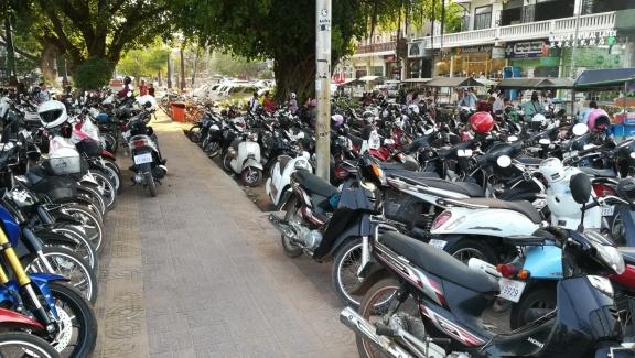just a few motorbikes