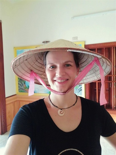 typical hat for working in a rice field