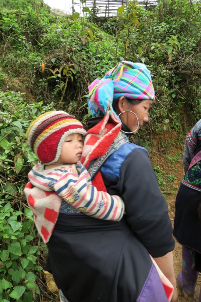 H'Mong Woman with child
