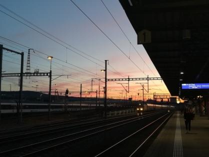 Hardbrücke in the evening